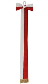 Sash white-red WSTA-BC-G