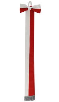 Sash white-red WSTA-BC-S