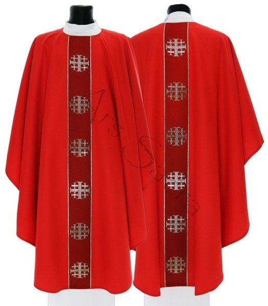 "Gothic Chasuble ""Jerusalem Crosses"" G103-C"