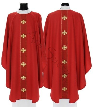 "Gothic Chasuble ""Maltese Crosses"" G104-C"