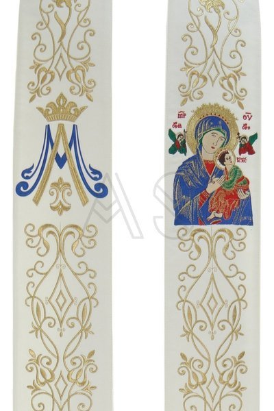 """Gothic stole """"Our Lady of Perpetual Help"""" SH26-K"""