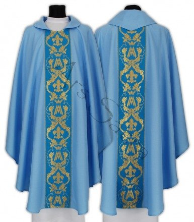 Maryjny ornat gotycki 081-N