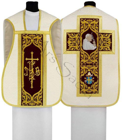 """Ornat rzymski """"Papież Jan Paweł II"""" R567-AKC25"""