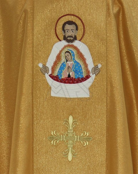 "Casulla gótica ""Santa Juan Diego"" 430-G63g"